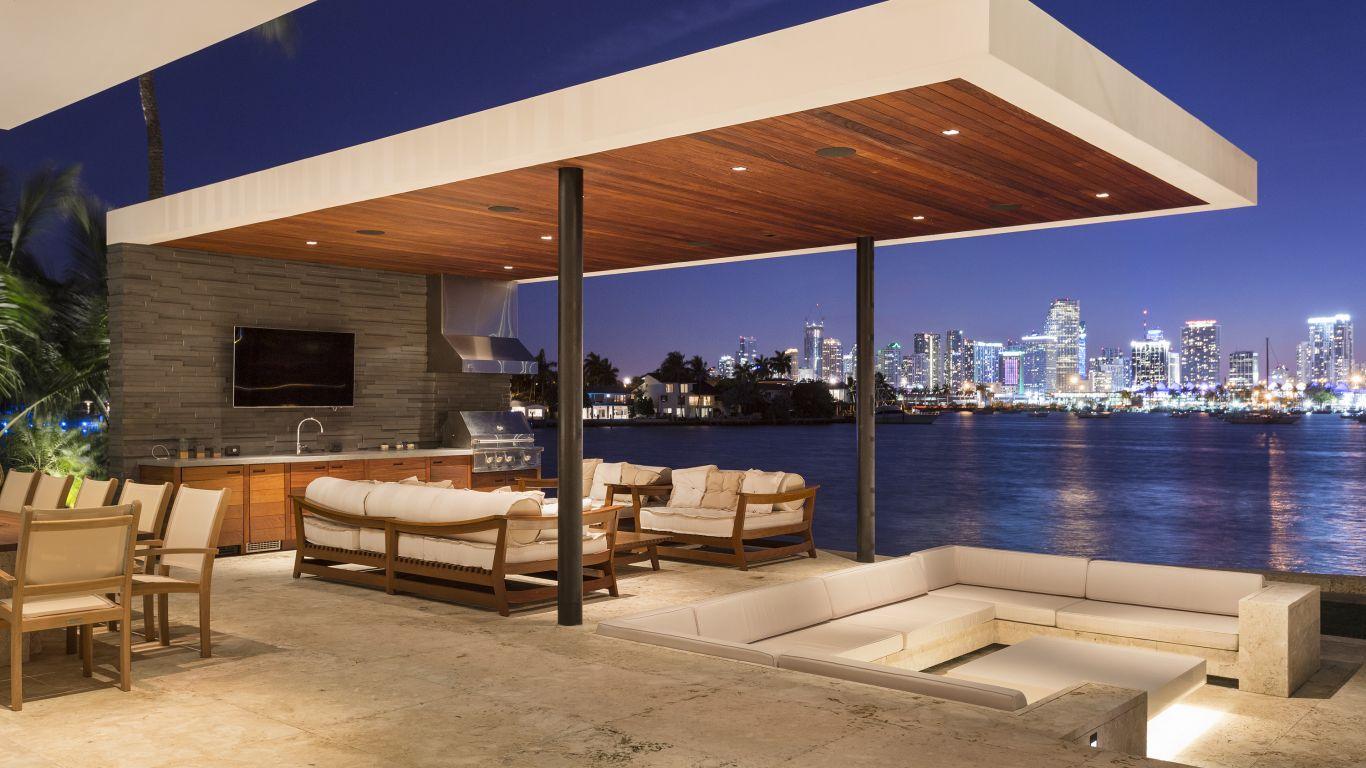 Villa Diana, Star, Palm and Hibiscus Islands, Miami, USA